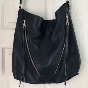 Rebecca Minkoff large leather bag in navy